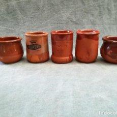 Antigüedades: LOTE DE 5 TARROS PARA CUAJADA Y HELADO. Lote 222581217