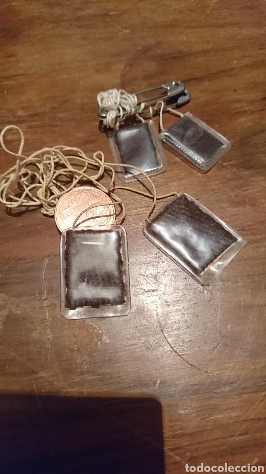 Antigüedades: Lote 4 escapularios, ideal coleccionista - Foto 2 - 222585193