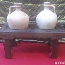 Antigüedades: CANTARERA ANTIGUA BAJA EN MADERA PARA DOS CANTARILLOS.- CANTAROS.. Lote 222592881