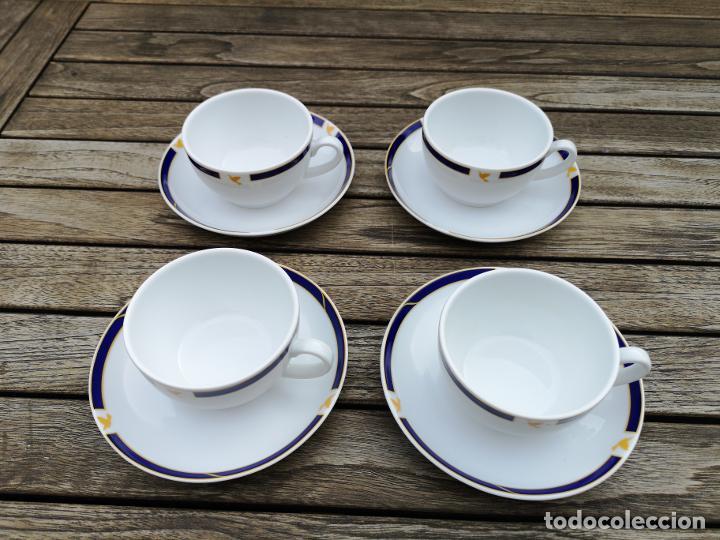 Antigüedades: SABENA Líneas Aéreas Belgas, lote de cuatro platos y tazas de café de porcelana de servicio a bordo - Foto 2 - 222593357