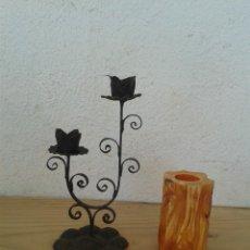 Antigüedades: 2 CANDELABRO PORTAVELAS PALMATORIA. Lote 222598062