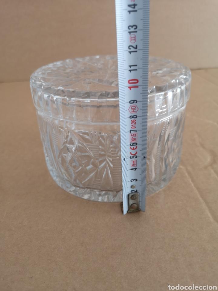 Antigüedades: Precioso y antiguo tarro de cristal tallado de bohemia - Foto 8 - 222603010