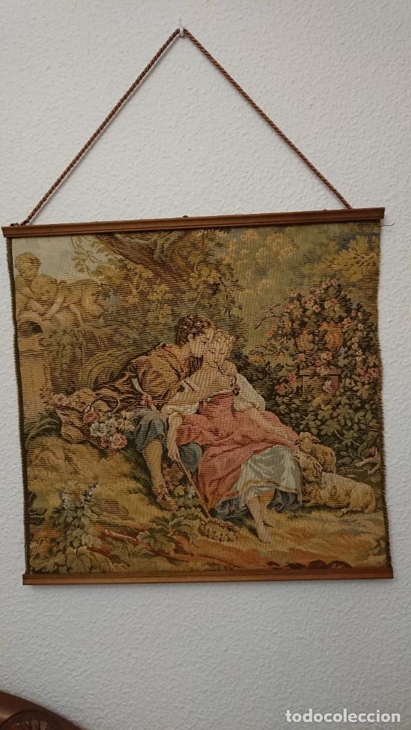 TAPIZ DE PARED 50×50 CM (Antigüedades - Hogar y Decoración - Tapices Antiguos)