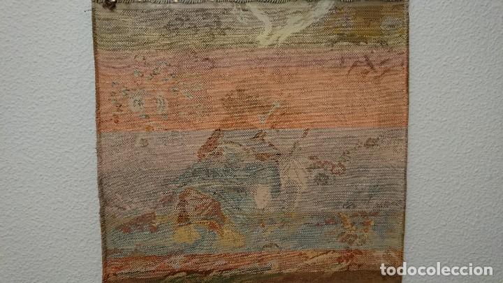 Antigüedades: TAPIZ DE PARED 50×50 CM - Foto 11 - 222603861