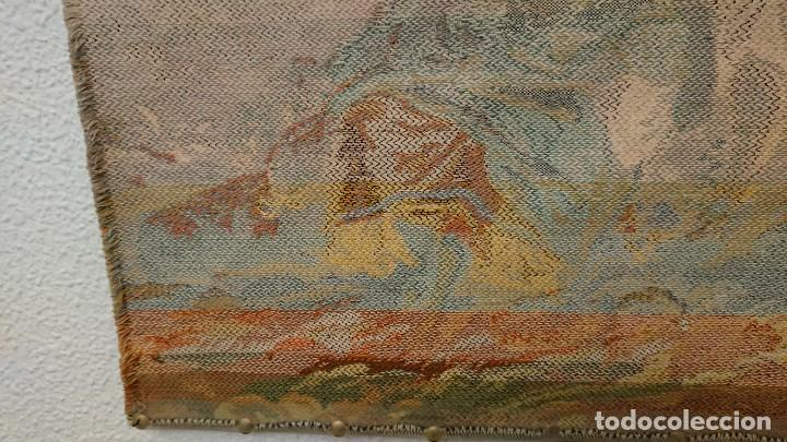 Antigüedades: TAPIZ DE PARED 50×50 CM - Foto 13 - 222603861