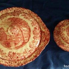 Antigüedades: CERAMICA MILL STREAM ROSA JOHNSON BROS, MADE IN ENGLAND.. Lote 222615415