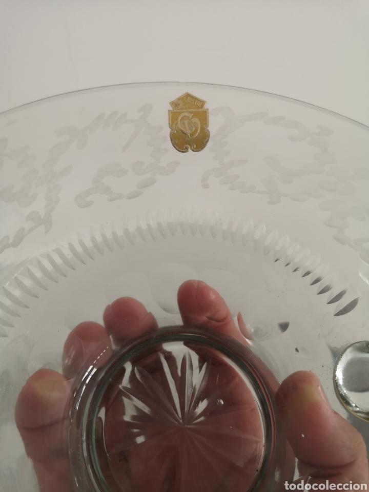 Antigüedades: Precioso y antiguo juego de ponche en cristal de bohemia tallado - Foto 6 - 222619128