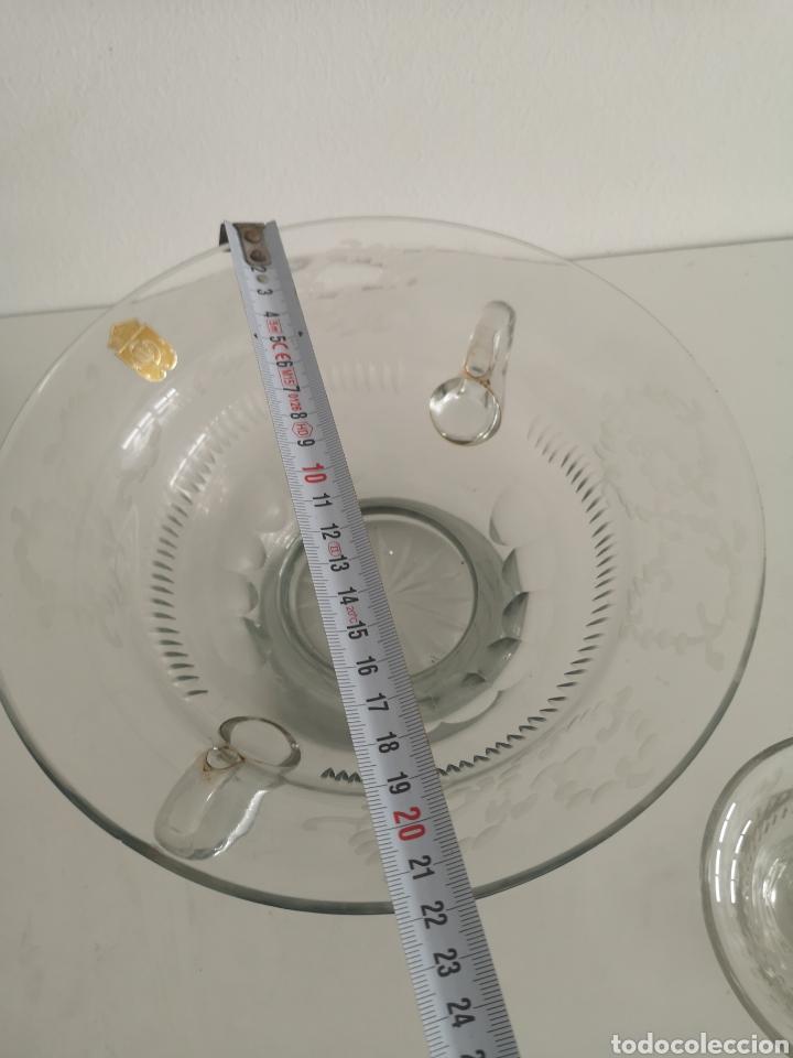 Antigüedades: Precioso y antiguo juego de ponche en cristal de bohemia tallado - Foto 8 - 222619128