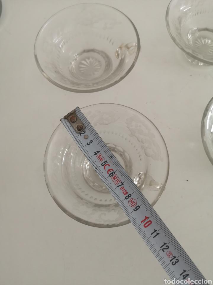 Antigüedades: Precioso y antiguo juego de ponche en cristal de bohemia tallado - Foto 9 - 222619128