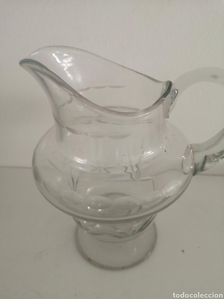 Antigüedades: Preciosa jarra de cristal de bohemia tallada - Foto 2 - 222619872