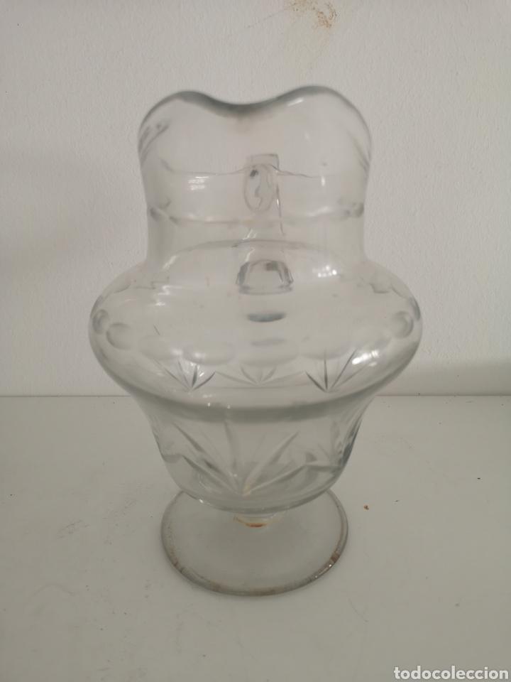 Antigüedades: Preciosa jarra de cristal de bohemia tallada - Foto 4 - 222619872