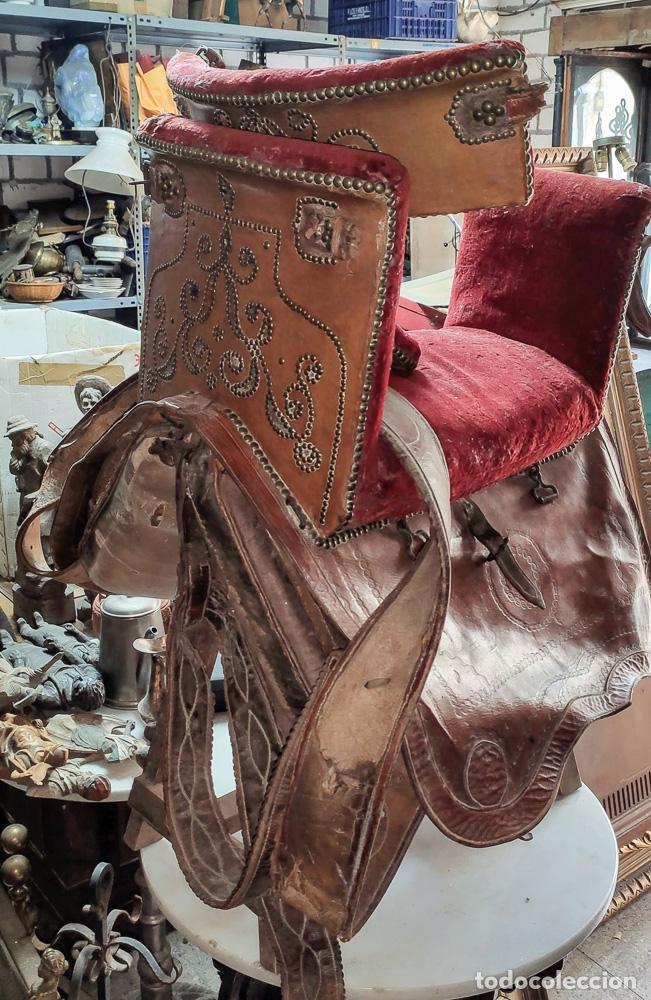 Antigüedades: EXCELENTE SILLA DE MONTAR CABALLO DE MUJER S.XVIII - Foto 7 - 222626265