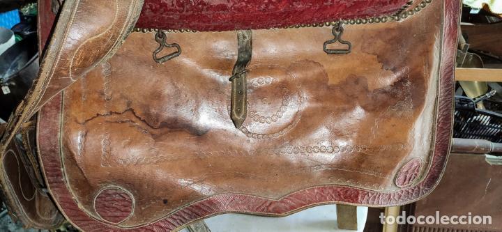 Antigüedades: EXCELENTE SILLA DE MONTAR CABALLO DE MUJER S.XVIII - Foto 9 - 222626265