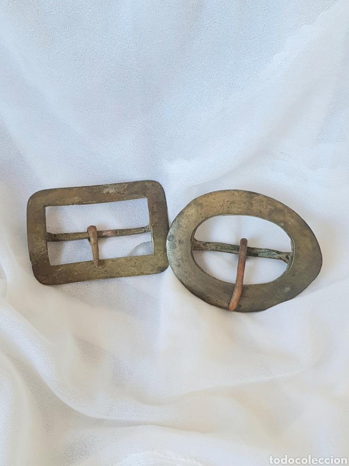Antigüedades: LOTE 2 ANTIGUAS HEBILLAS DE BRONCE SIGLO XIX ARTESANALES - Foto 6 - 222626351