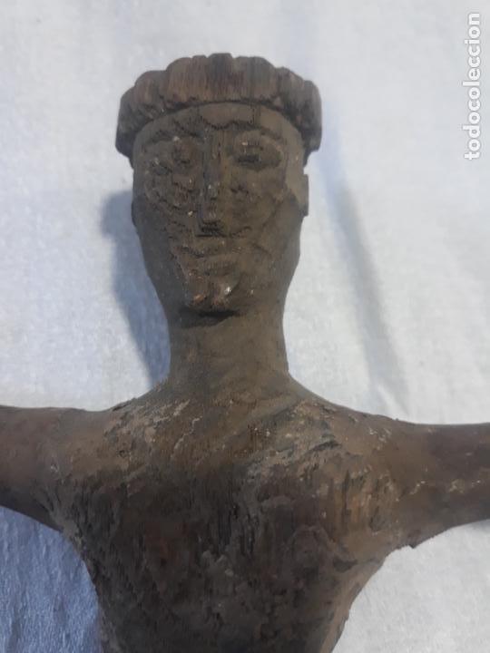 Antigüedades: TALLA DE CRISTO ROMANICO SIGLO XIII en madera - Foto 3 - 222626543