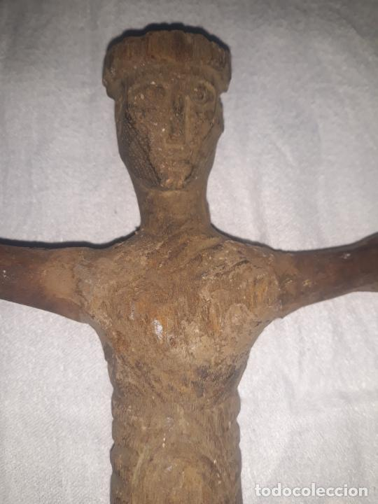 Antigüedades: TALLA DE CRISTO ROMANICO SIGLO XIII en madera - Foto 5 - 222626543