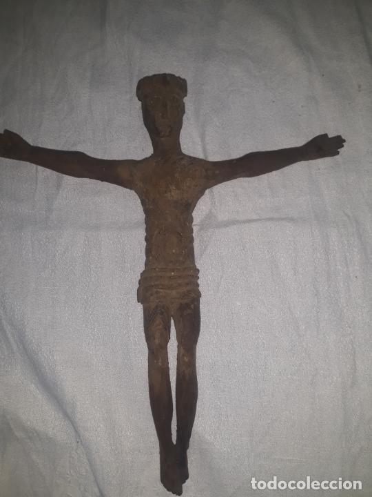 Antigüedades: TALLA DE CRISTO ROMANICO SIGLO XIII en madera - Foto 6 - 222626543
