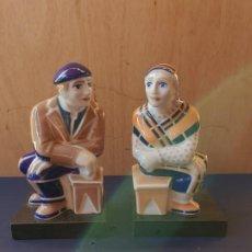 Antigüedades: PAREJA APOYALIBROS CERAMICA SARGADELOS. Lote 222631858