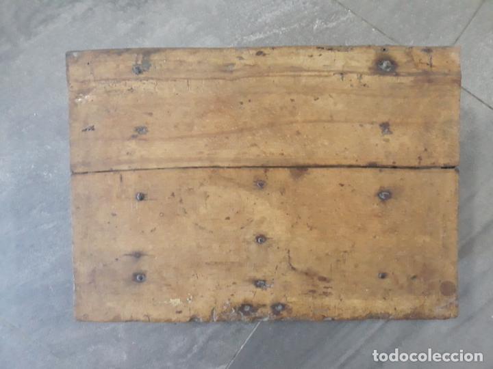 Antigüedades: magnifica arqueta gotica española,siglo xvi,hierros y madera de haya policromada - Foto 6 - 222648300