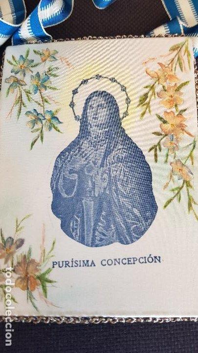 Antigüedades: VILLARREAL PURISIMA CONCEPCION MIDE 15X11 CM - Foto 3 - 222651983