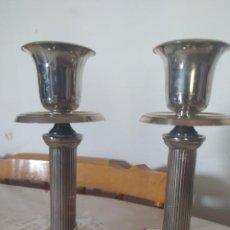Antigüedades: PAREJA DE CANDELABROS. Lote 222672678