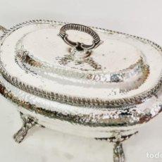 Antigüedades: SOPERA EN PLATA LEY MARCADA CON CONTRASTE. Lote 222673096