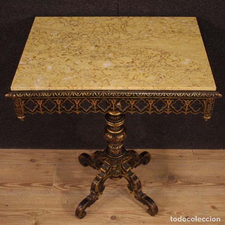 Antigüedades: Mesa auxiliar italiana lacada y pintada - Foto 3 - 222674808