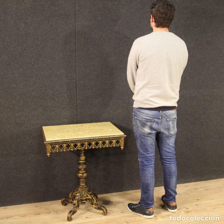 Antigüedades: Mesa auxiliar italiana lacada y pintada - Foto 8 - 222674808