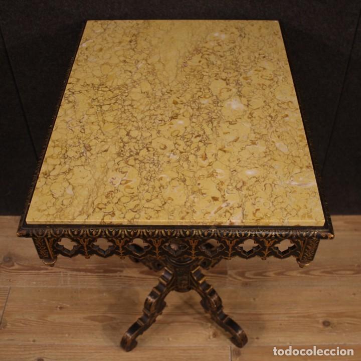 Antigüedades: Mesa auxiliar italiana lacada y pintada - Foto 10 - 222674808