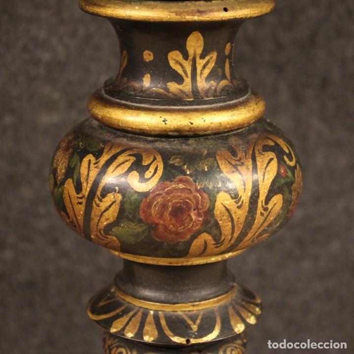 Antigüedades: Mesa auxiliar italiana lacada y pintada - Foto 11 - 222674808