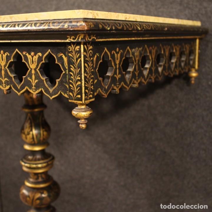 Antigüedades: Mesa auxiliar italiana lacada y pintada - Foto 12 - 222674808