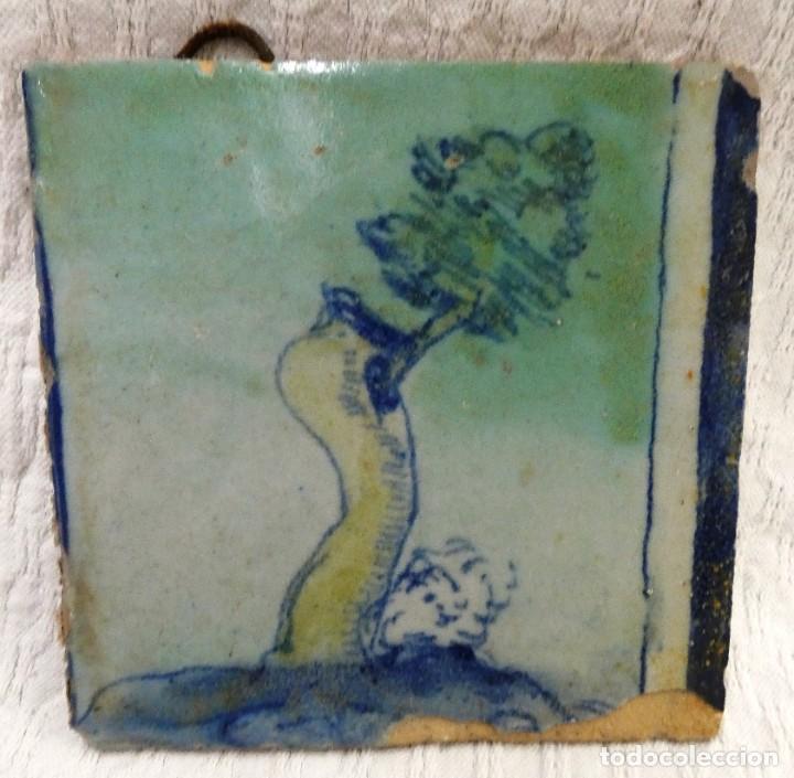 Antigüedades: conjunto cuatro baldosas Italianas - Foto 3 - 222675162