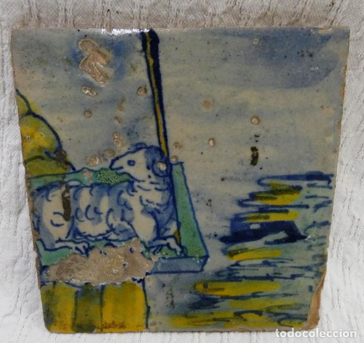 Antigüedades: conjunto cuatro baldosas Italianas - Foto 4 - 222675162