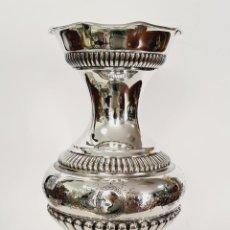 Antigüedades: JARRON EN PLATA LEY MARCADO CON CONTRASTE. Lote 222676977