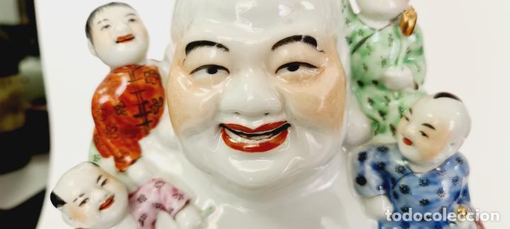 Antigüedades: buda porcelana chino china grande marcado - Foto 3 - 222679767