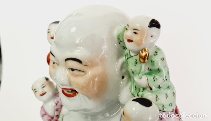 Antigüedades: buda porcelana chino china grande marcado - Foto 9 - 222679767