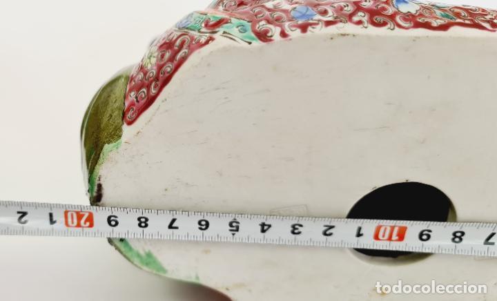 Antigüedades: buda porcelana chino china grande marcado - Foto 12 - 222679767