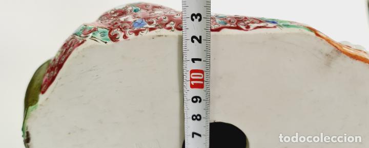 Antigüedades: buda porcelana chino china grande marcado - Foto 13 - 222679767