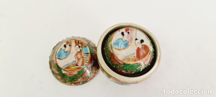 Antigüedades: cuatro frascos de porcelana de exportación china del siglo XIX - Foto 7 - 222685300