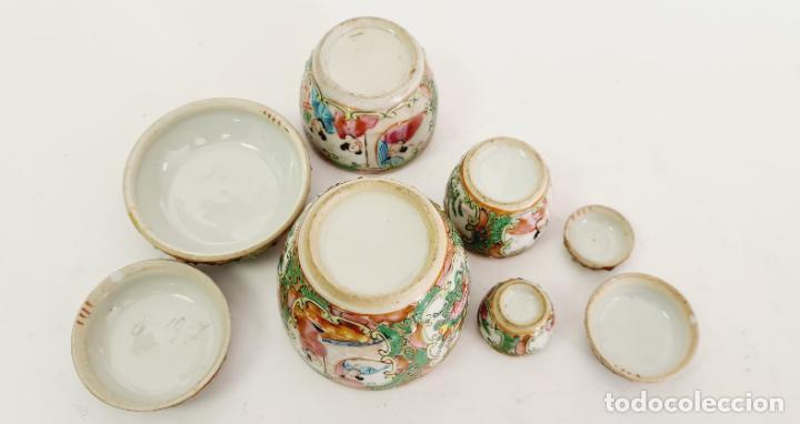 Antigüedades: cuatro frascos de porcelana de exportación china del siglo XIX - Foto 9 - 222685300