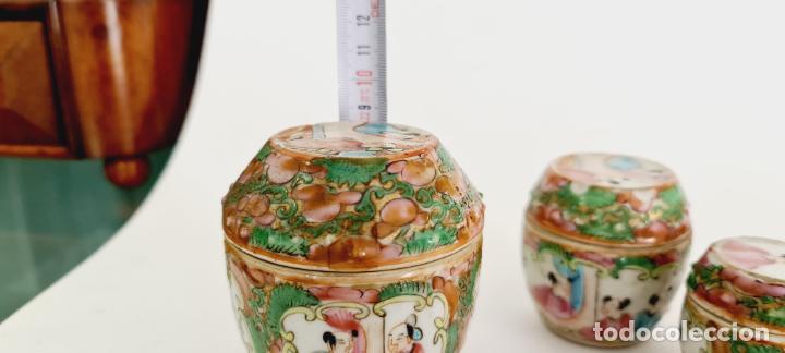 Antigüedades: cuatro frascos de porcelana de exportación china del siglo XIX - Foto 11 - 222685300