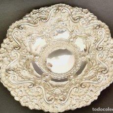 Antigüedades: CESTA PLATA LEY MARCADO CON CONTRASTE. Lote 222686882