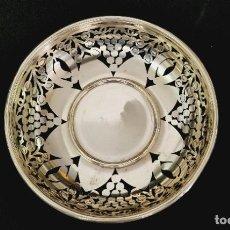 Antigüedades: CESTA EN PLATA LEY MARCADO CON CONTRASTE. Lote 222688583