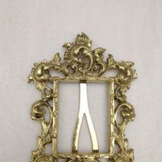 Antigüedades: MARCO DE BRONCE ANTIGUO, RESTAURADO. Lote 222700423