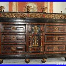 Antigüedades: FANTASTICO BARGUEÑO PAPELERO ITALIANO BARROCO S. XVIII. Lote 222714723