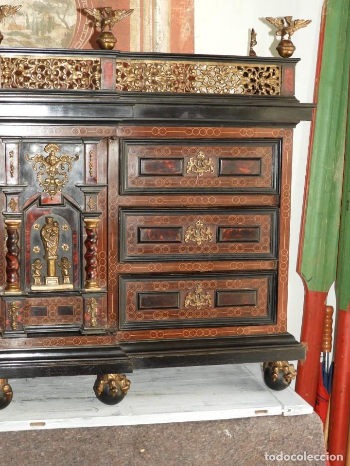 Antigüedades: FANTASTICO BARGUEÑO PAPELERO ITALIANO BARROCO S. XVIII - Foto 4 - 222714723