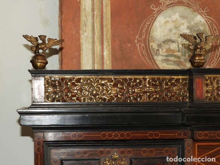 Antigüedades: FANTASTICO BARGUEÑO PAPELERO ITALIANO BARROCO S. XVIII - Foto 8 - 222714723