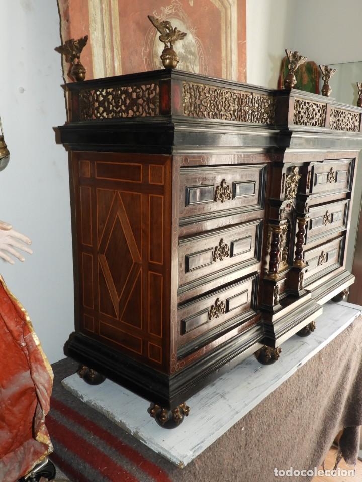 Antigüedades: FANTASTICO BARGUEÑO PAPELERO ITALIANO BARROCO S. XVIII - Foto 16 - 222714723