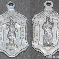 Antiguidades: MEDALLA DE ALUMINIO SAN RAFAEL ARCANGEL/SAN JUAN DE DIOS -Nº612. Lote 222717652
