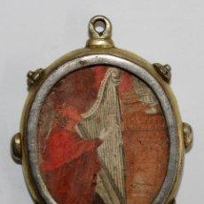 Antigüedades: RELICARIO DE PLATA SG XVIII - SAN EFREN - 5,5 X 5 CM.. Lote 222721868